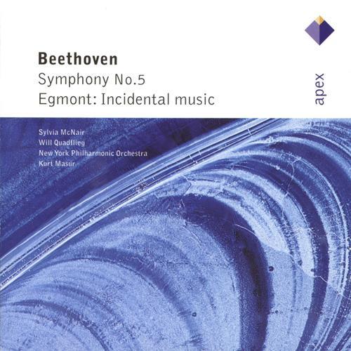 BEETHOVEN, L. van: Symphony No. 5 / Egmont (Quadflieg, McNair, New York Philharmonic, Masur)
