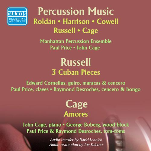 Percussion Music - ROLDAN, A. / HARRISON, L. / RUSSELL, W. / COWELL, H. / CAGE, J. (Concert Percussion for Orchestra) (1961)