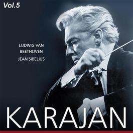 """BEETHOVEN, L. van: Symphony No. 6, """"Pastoral"""" / SIBELIUS, J.: Symphony No. 4 (Karajan, Vol. 5) (Karajan) (1953)"""